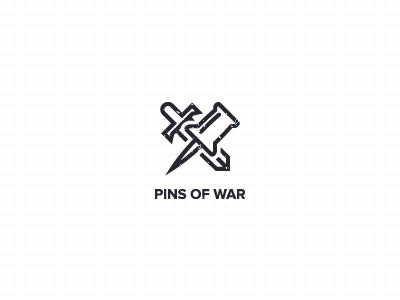 Pins-of-war-concept-