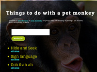 Pet Monkey Tasks