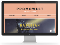 Promowest Productions Website Redesign
