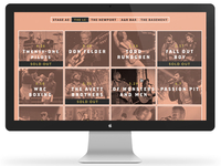 Promowest Productions Website Redesign (Schedule Page)