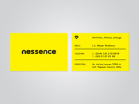 Nessence business cards