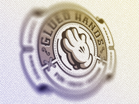 Glued Hands Logo Badge