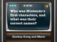 Interface for iPhone Trivia game