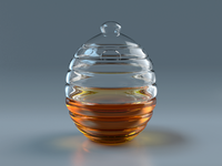 Beehive Honey Jar V2