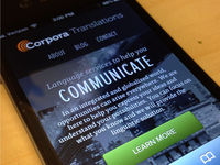 Corpora Translations on iPhone