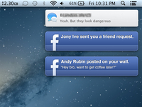 Facebook notifications on Mac (concept)
