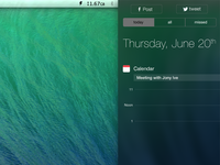 OS X Mavericks Notification Center
