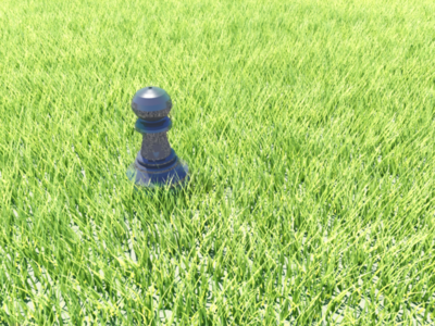 Chess Pawn 3D Render