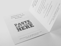 Greeting & Invitation Card Mockups
