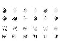 Black White Dots variations