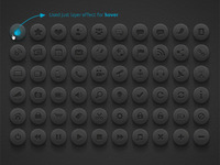 Media & Communication Buttons | Dark