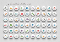Media & Communication Buttons | Soft