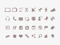 Communication & Media Icons
