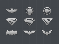 Superhero logo icon set - Part 3
