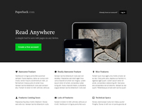 Paperback - PSD Template for web app