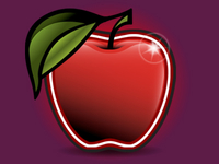 Apple, vector, logo, identity, red