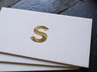 Business cards - S monogram