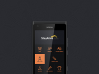 StayAlive app screen