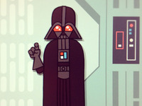 Darth Vader on the Death Star