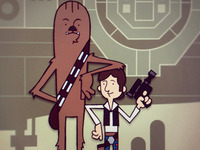 Han Solo & Chewie in Mos Eisley Spaceport