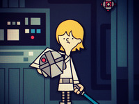 Luke Skywalker on the Millenium Falcon