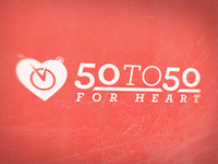 50 To 50 For Heart Logo