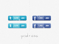 Twitter & Facebook widget (coded)