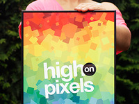 High on Pixels print