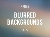 Free Blurred Backgrounds, ZIP