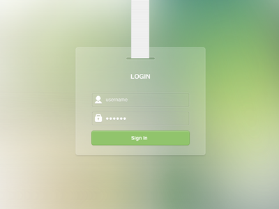 Download Login Free PSD
