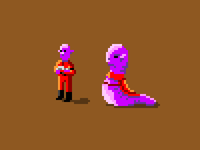 Aliens in pixel art