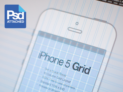 iPhone 5 Grid PSD