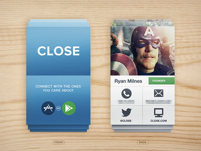 Close business card