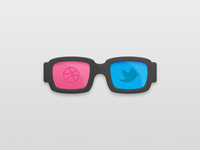 Twitter & Dribbble Glasses