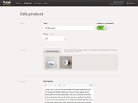 Edit Product View
