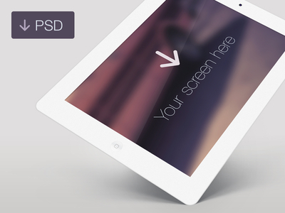 Download Free iPad White Angle PSD