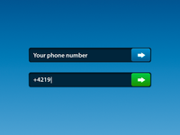 Phone number bar