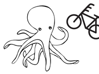 Octobike t-shirt illustrations