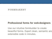 Formbakery sneak peek