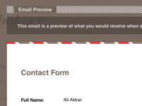 Form email preview