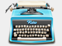 Vector Vintage Typewriter (with download)