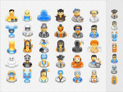 ... - User Avatar Icons (55 free icons with download) by iconshock: dribbble.com/shots/155573-User-Avatar-Icons-55-free-icons-with...