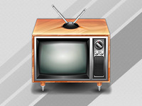Vintage tv icon (free download)