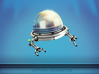 WP Theme Generator logo spaceship