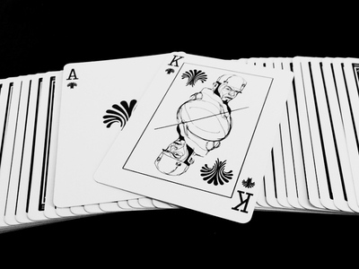 Poker card printed