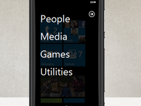 Windows Phone start screen groups concept