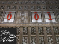 3D projection for Saks Fifth Avenue
