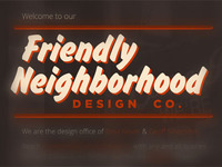 Friendly Neighborhood Design Company