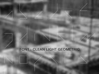 Clean Light Geometric