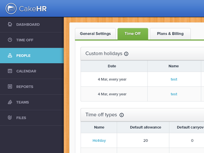 HR App Interface
